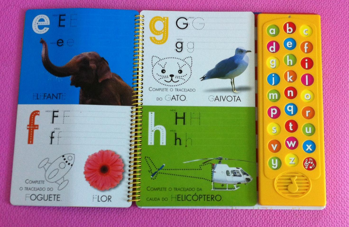 """Livro infantil Escute & Aprenda! Escreva e Apague – ABC com sons"""""""