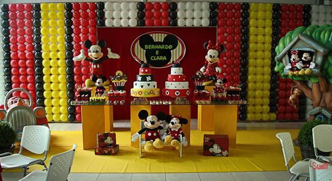 3 lindas festas de gêmeos do Mickey e da Minnie