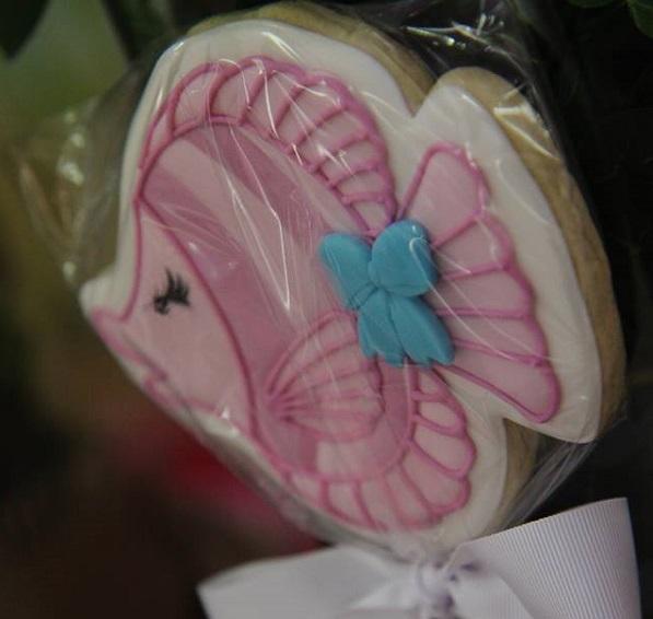 biscoito peixe rosa