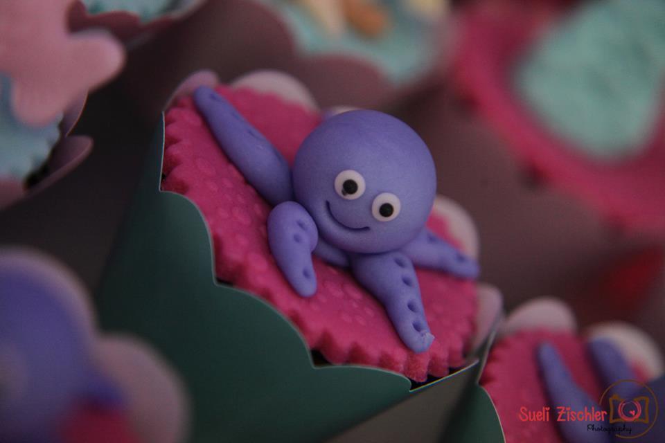 Cupcake com polvo simpático