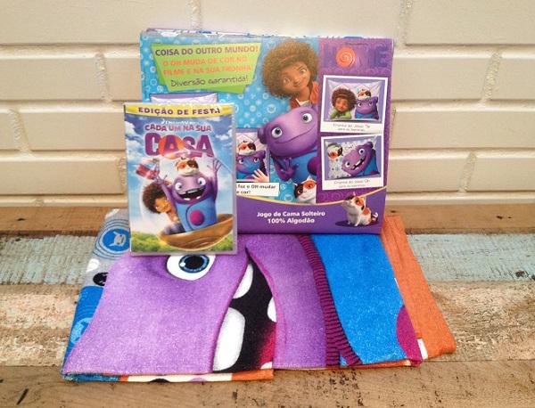 DVD, toalha de praiae jogo de lençol