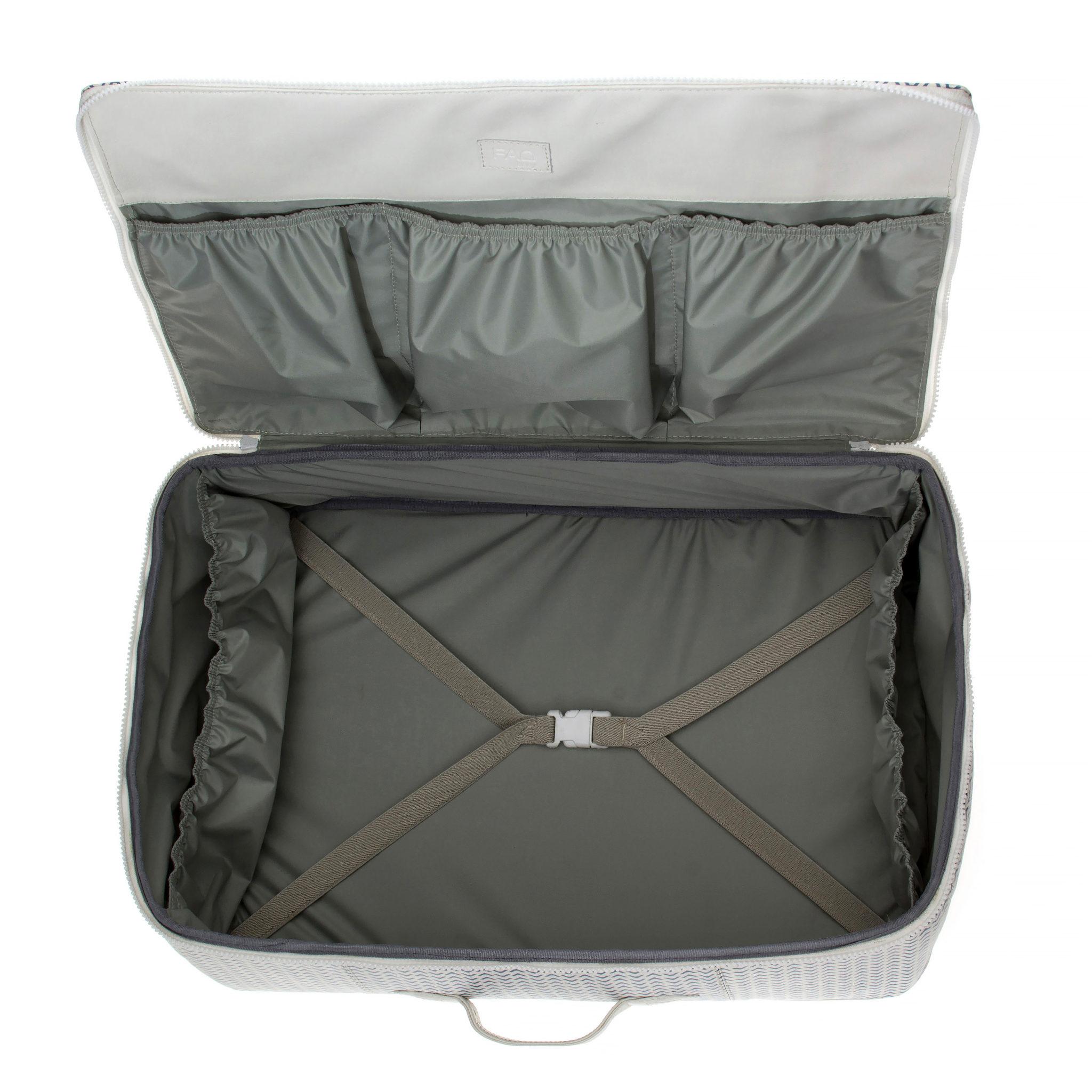 Visão interna da mala da linha Bebê Viaja