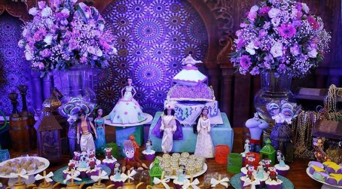 Festa da Jasmine, a princesa de Aladdin (doces personalizados)