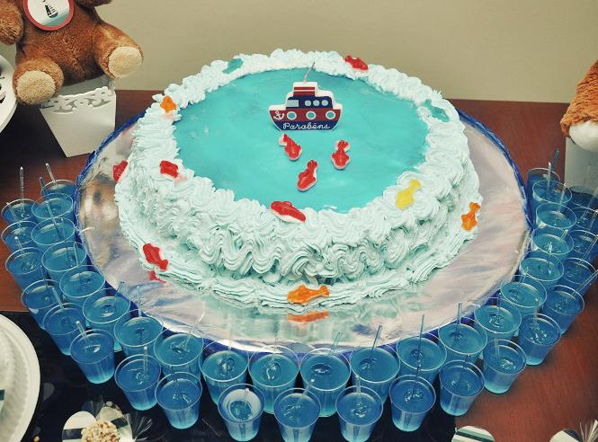 bolo festa infantil marinheiro