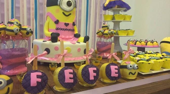 Ideias para festa dos Minions para meninas