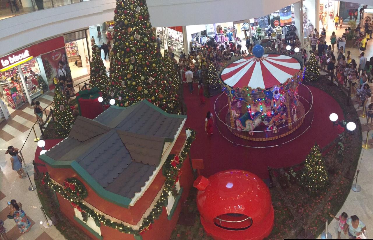 Decoração de Natal do Salvador Norte Shopping