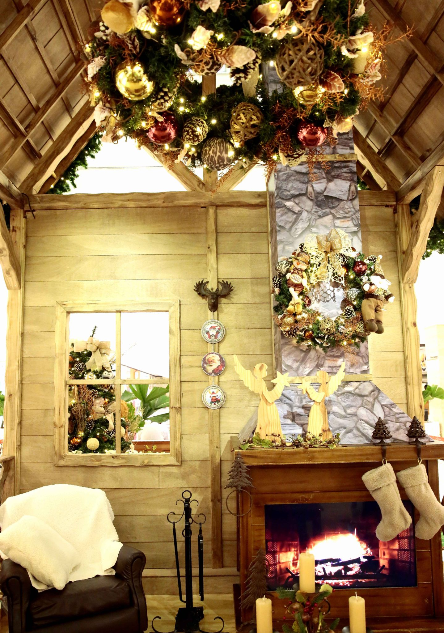 Interior da casa do Papai Noel