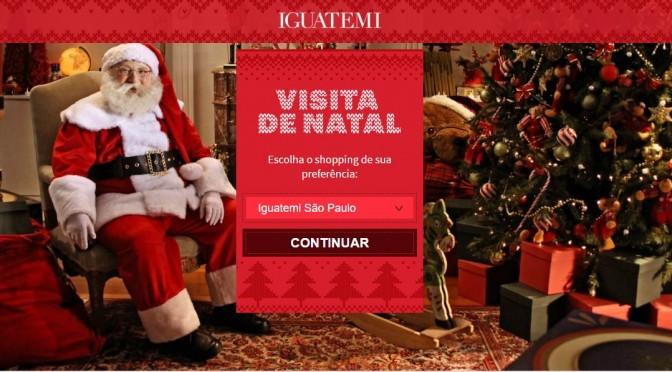 Visita de Natal Shoppings Iguatemi