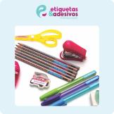 Banner Etiquetas & Adesivos material escolar