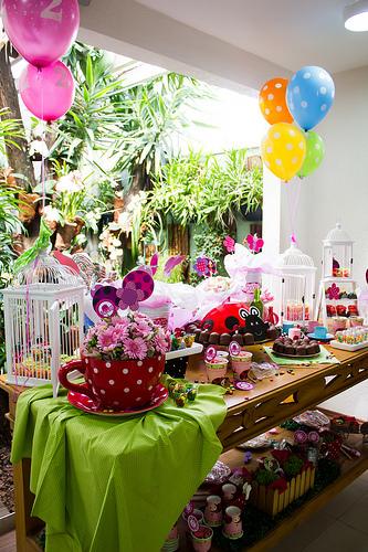 Festa de menina no tema Joaninha. Foto: Luciana Morassi
