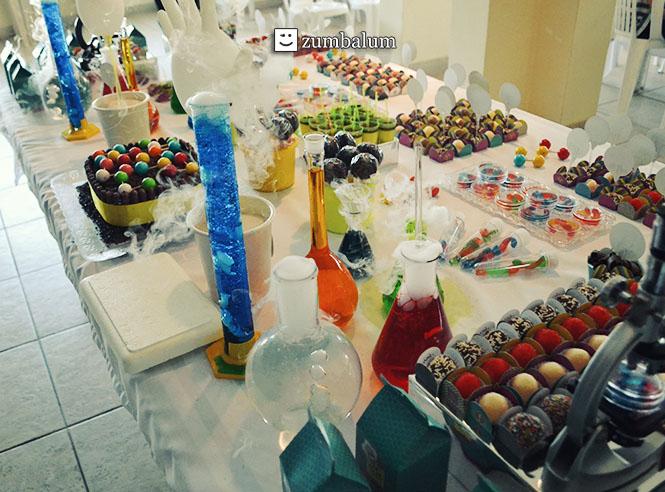 Decoração festa Infantil tema Cientista 17
