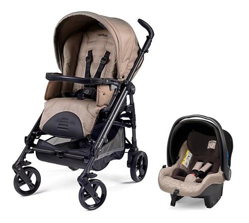Carrinho de bebê e bebê conforto da Burigotto