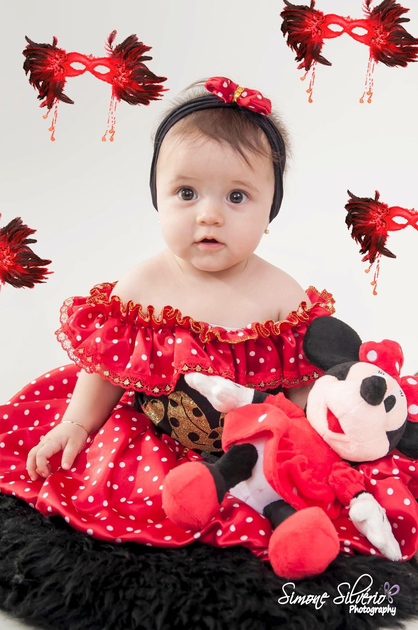 Maria Fernanda fantasiada de Minnie e vencedora do Concurso Cultural Pós Carnaval do blog Mamãe Prática