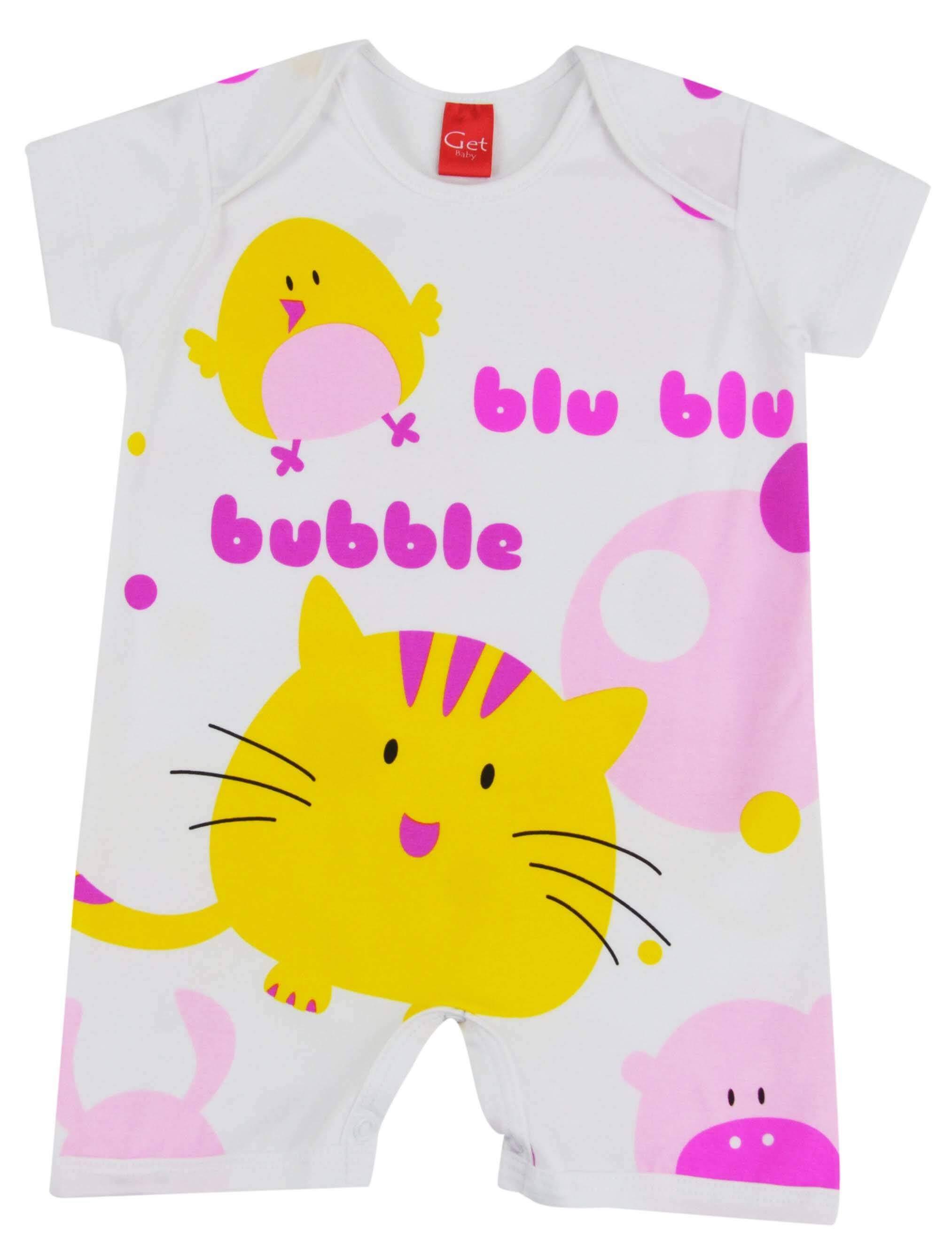 Pijama de macacão curto para meninas da loja virtual Pijamas for you