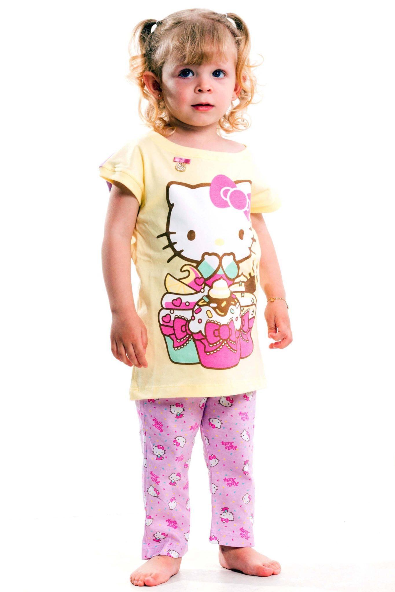 Pijama infantil Capri Kids com estampa da Hello Kitty da loja virtual Pijamas for you