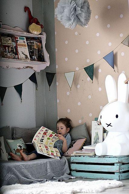 Brinquedoteca com espaço de leitura