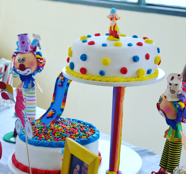 Bolo para festa Infantil no tema Circo