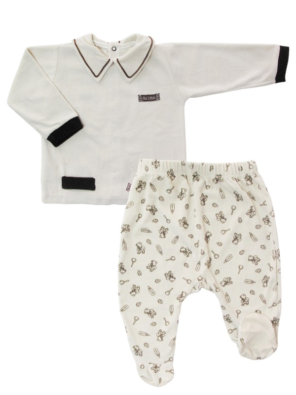 Conjunto de roupa de bebê da loja virtual Baboobee
