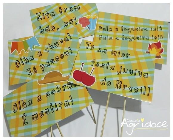 Plaquinhas Festa Junina do site Elo7