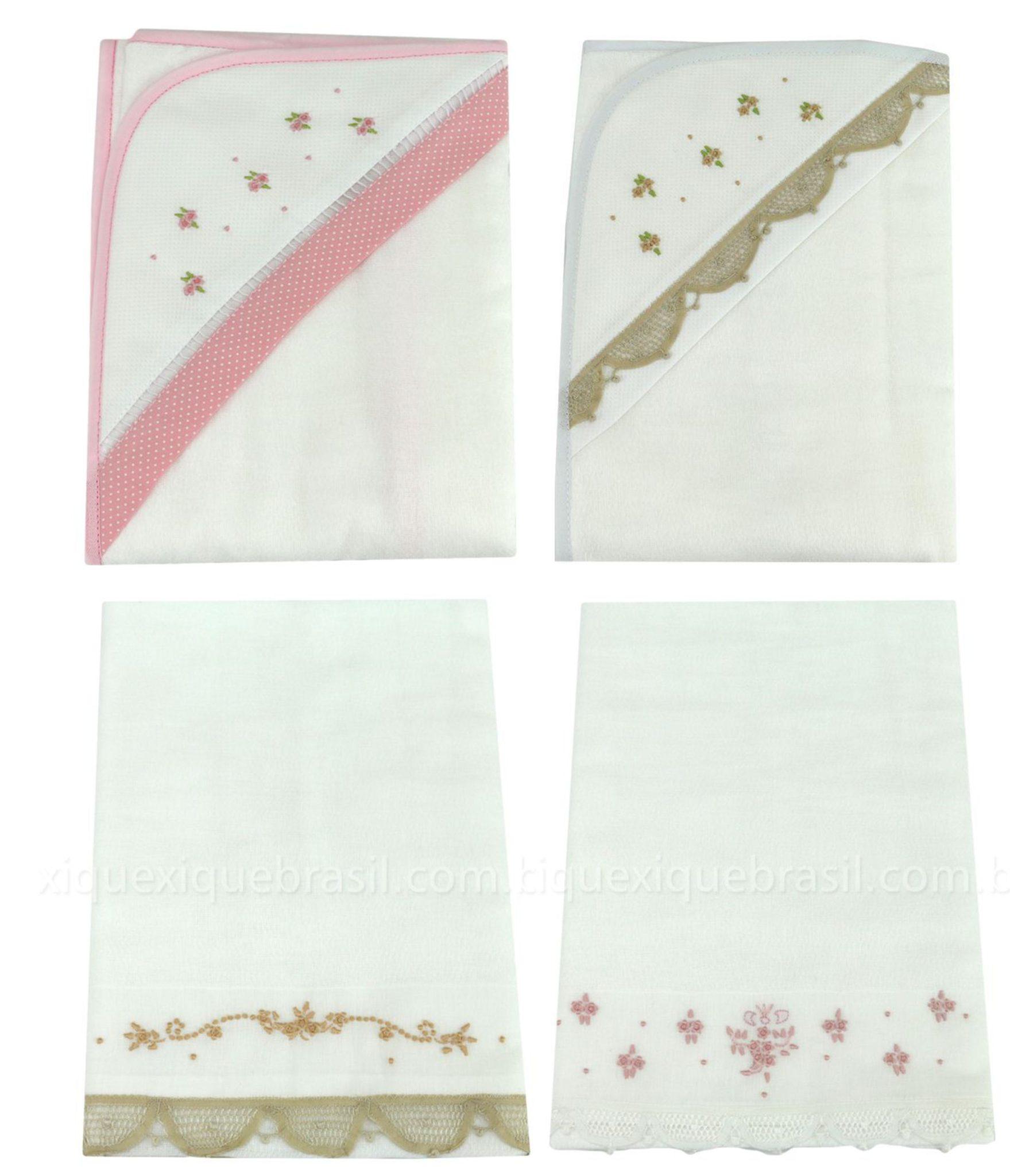 Toalhas de banho para enxoval de bebê floral