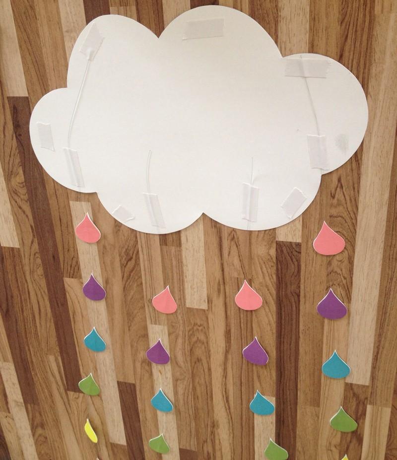 Móbile de nuvem para quarto infantil