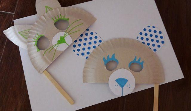 (Passo a Passo): Máscara de bichinho com prato e palito