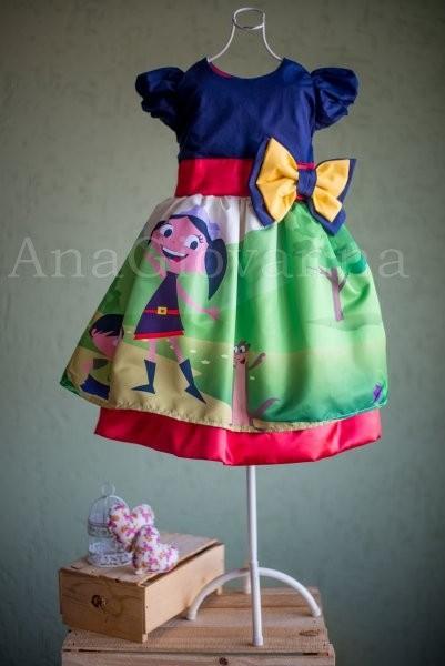 Vestidos infantis de festa Show da Luna