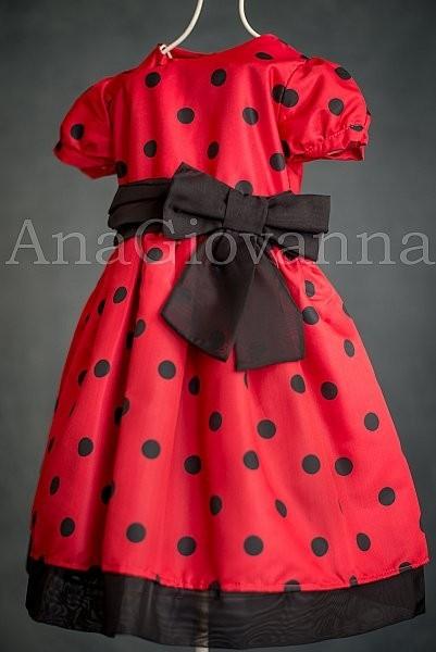 Vestidos infantis de festa Ladybug