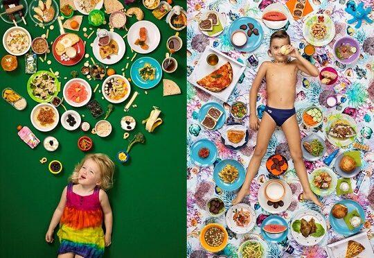 Fotos retratam como crianças comem ao redor do mundo